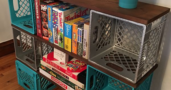 Milk crate  Milk Crate Furniture  Pinterest  Milk