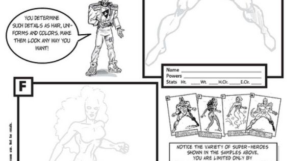 I developed these for my Super Hero Cartooning Class to