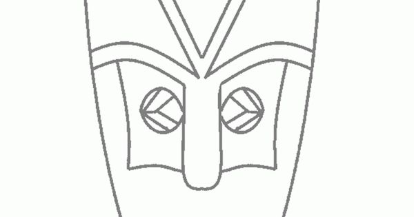 African Mask Coloring Pages African Tribal Mask Coloring