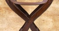 Medieval Scissors Chair with leather seat. Art.No.: 4179 ...