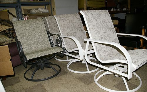 patio sling chair replacement powder room diy for furniture (video)   furniture, videos and mesh