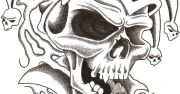 drawings of skulls skull jester