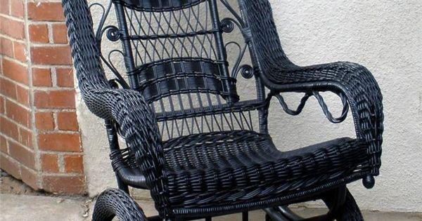 Details about Antique Vintage Victorian Gothic Wicker