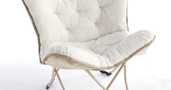 Simple by Design Sherpa Memory Foam Butterfly Chair Kohls