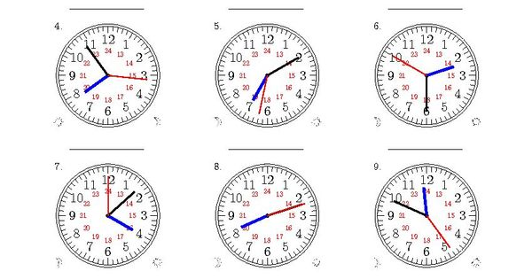 New 2015-04-02! Reading Time on 24 Hour Analog Clocks to