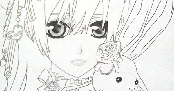 Anime Vampire Girl Coloring Pages Anime Vampire Girl