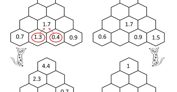 printable math puzzles sallys hexagon number puzzle 5