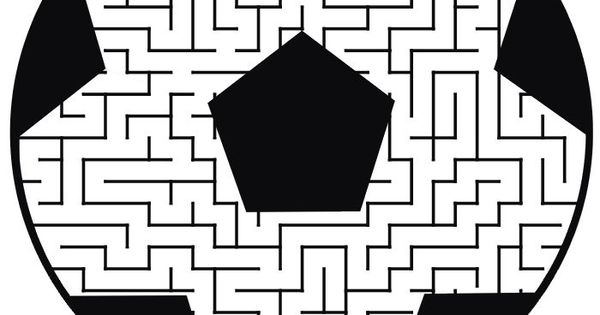 Soccer Maze: Guide the soccer player through the maze to