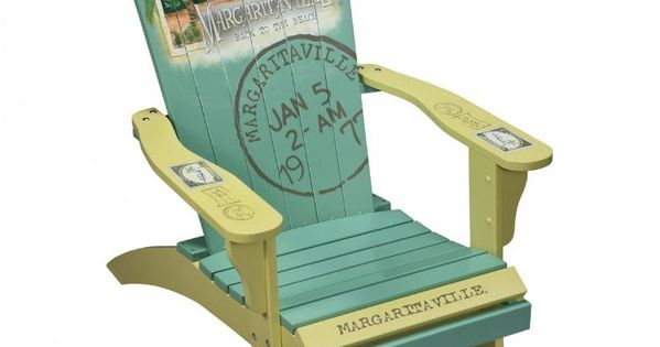 Margaritaville Painted Back to the Beach Adirondack