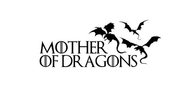Mother of Dragons Vinyl Decal, Game of Thrones Car Decal
