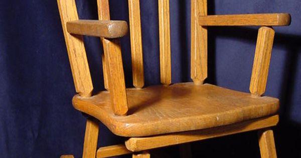 childs wooden rocking chair chairs for kitchen vintage cass toys child's children's kids oak | antique furniture pinterest ...