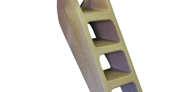 TechStar Plastic Heavy Duty Flip Up 5 Step Dock Ladder