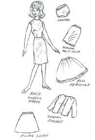 Free printable classic doll clothes patterns. Make an