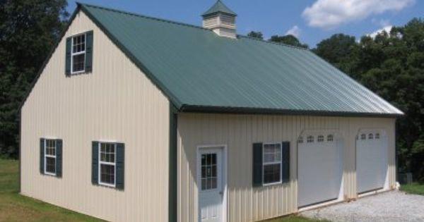 Garage With Bonus Loft  30 x 40 x 10  Metal storage