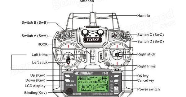 FlySky FS-i6 2.4G 6CH AFHDS RC Transmitter With FS-iA6