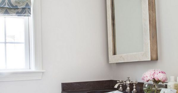 The Wall Paint Color Is Benjamin Moore Oc 26 Silver Satin
