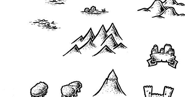 Black and White Map Symbols Overland 2 by DarthAsparagus