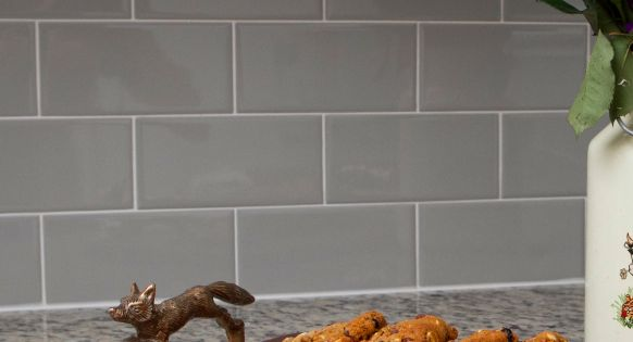 Kitchen Backsplash  Rittenhouse Square Tile  Desert Gray