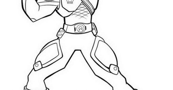 Free Power Rangers Samurai Superheroes Coloring Page For