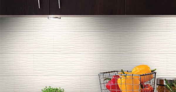 allen  roth Wavecrest White Glazed Ceramic IndoorOutdoor Wall Tile Common 4in x 12in