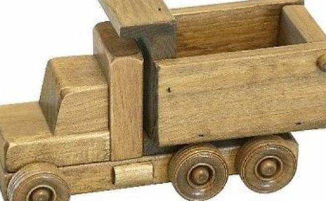 Working Dump Truck Wooden Construction Toy Amish Handmade