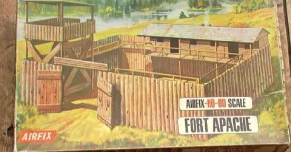 AIRFIX Vintage HO OO Fort APACHE Oudste LOGO Airfix