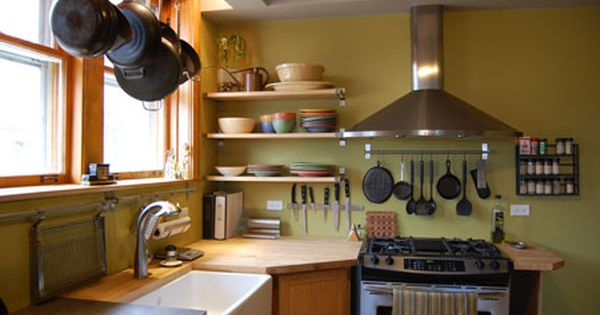 paint color Benjamin Moore Wasabi  Home Kitchen