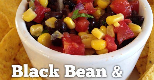 Black Bean Corn Salsa A healthy dip recipe that is low