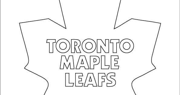 Print toronto maple leafs logo nhl hockey sport coloring