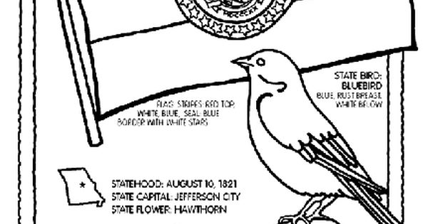 #Missouri State Symbol Coloring Page by Crayola. Print or