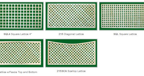 different types of lattice  Fence Ideas  Pinterest
