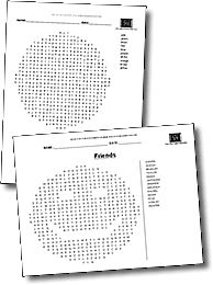 Create your own custom Word Search Worksheets! You can