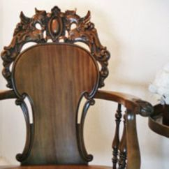 Swing Chair Lagos Jacobsen Egg Victorian Gothic Carved Griffin Oak Antique Rocking By Stickley & Brandt | Chairs ...
