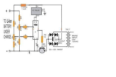 Li-Ion Battery Charger Circuit Using IC 555