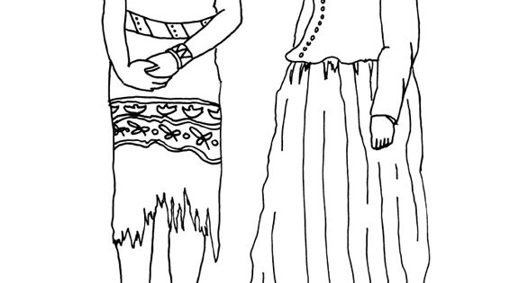 Summer clothes for Wampanoag Native American women were
