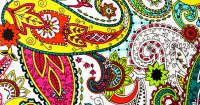 Fabric Wall Canvas Paisley Print /Colorful /Picture Art ...