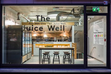Cold Press Juice Bar by Jump Studios  s t r i p p  d
