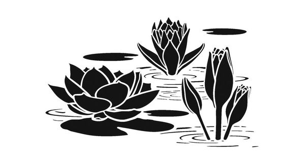 Water Lily Stencil Template : Scrapbooking, Airbrushing
