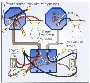 2way Switch with Lights Wiring Diagram | Electrical