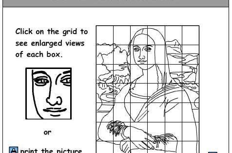 Enlargement Activity, Art skills online, interactive