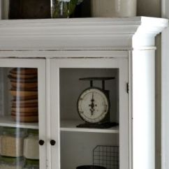 Cottage Style Kitchen Cabinets Coastal Rugs Our Vintage Home Love: Cabinet Flanking The ...