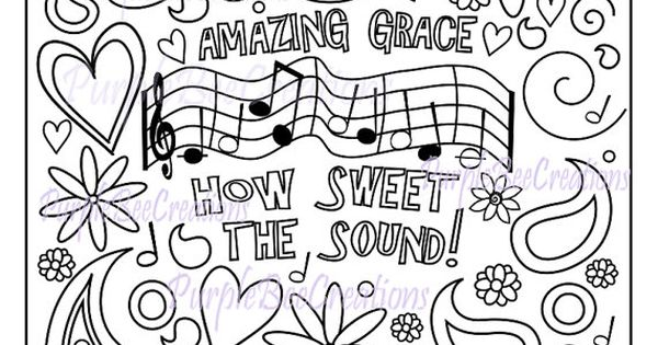Coloring Page Hymn Coloring Page
