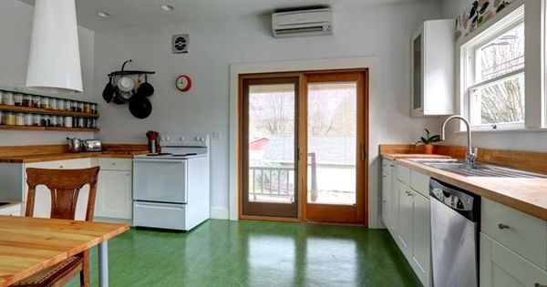 marmoleum floor  home  Pinterest  Floors Green and