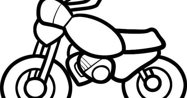 Wie das Motorrad dem Kind vom Bleistift etappenweise zu