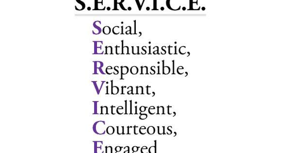 Service Acronym How To Market A Restaurant Pinterest