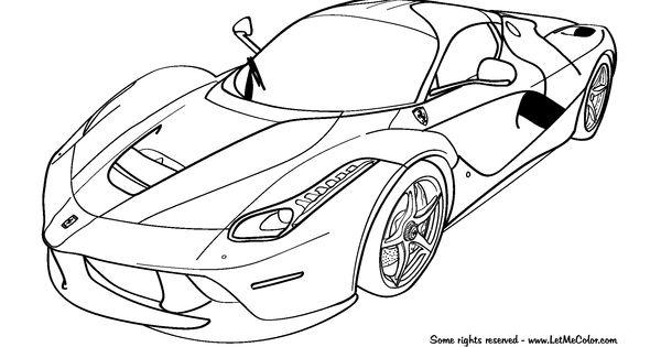 Cars-coloring-page-Ferrari-LaFerrari-F150-LetMeColor.com