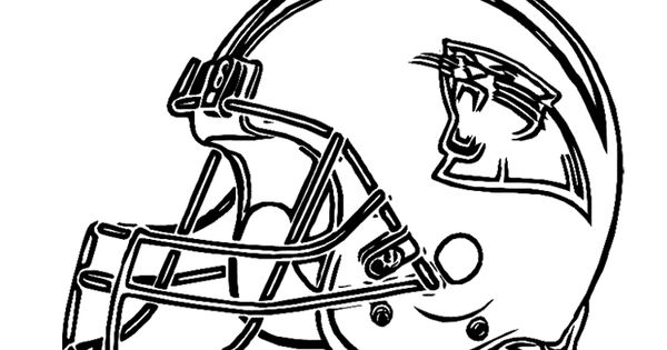 Football Helmet Carolina Panthers Coloring Page For Kids
