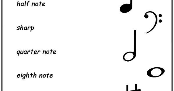 Homeschool Helper Online's Music Theory Matching Worksheet
