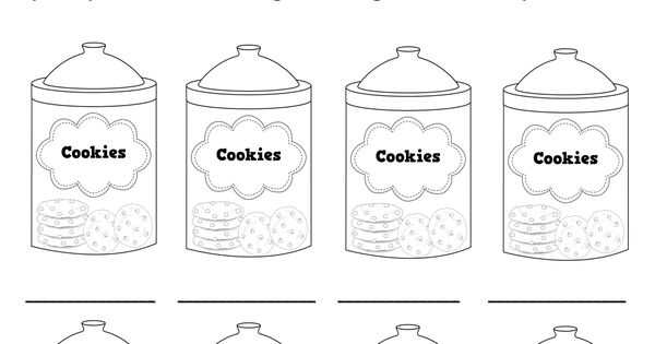 back to school cookie jars to practice color words #
