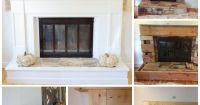 1970's Dramatic Fireplace Makeover {reveal | Red brick ...